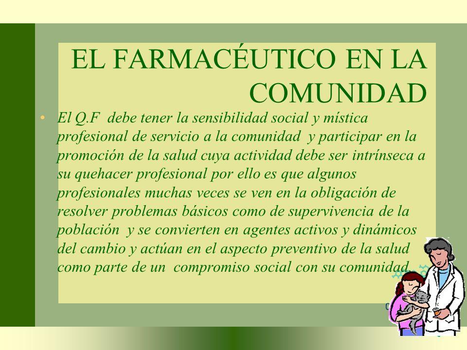 EL FARMACÉUTICO EN LA COMUNIDAD