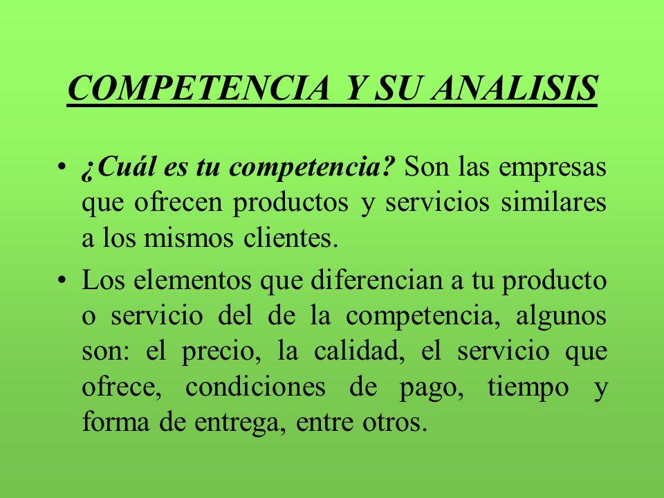 COMPETENCIA Y SU ANALISIS