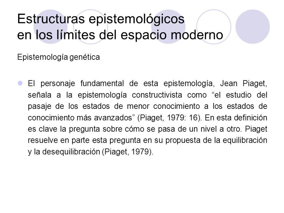 Estructuras epistemológicos en los límites del espacio moderno