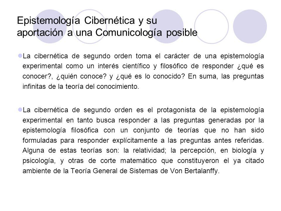 Epistemología Cibernética y su aportación a una Comunicología posible