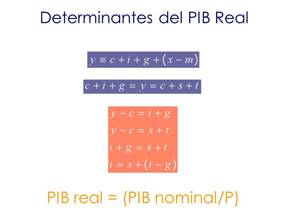 Determinantes del PIB Real