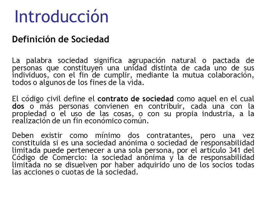 Introducción Definición de Sociedad