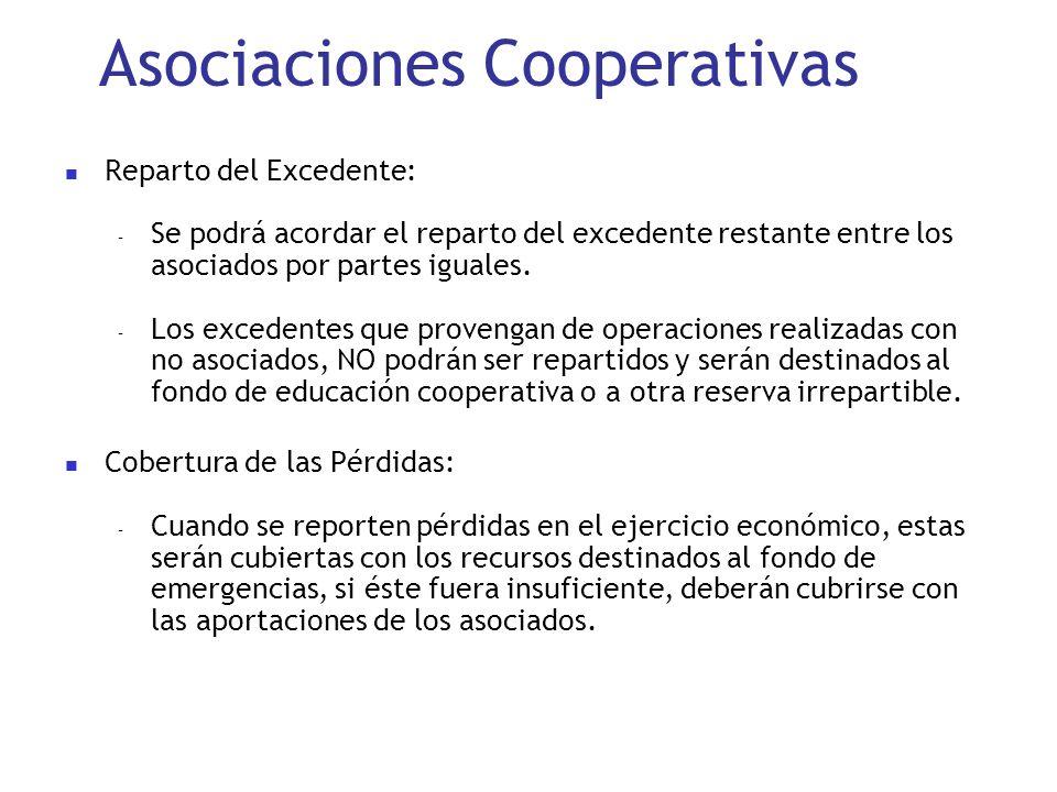 Asociaciones Cooperativas