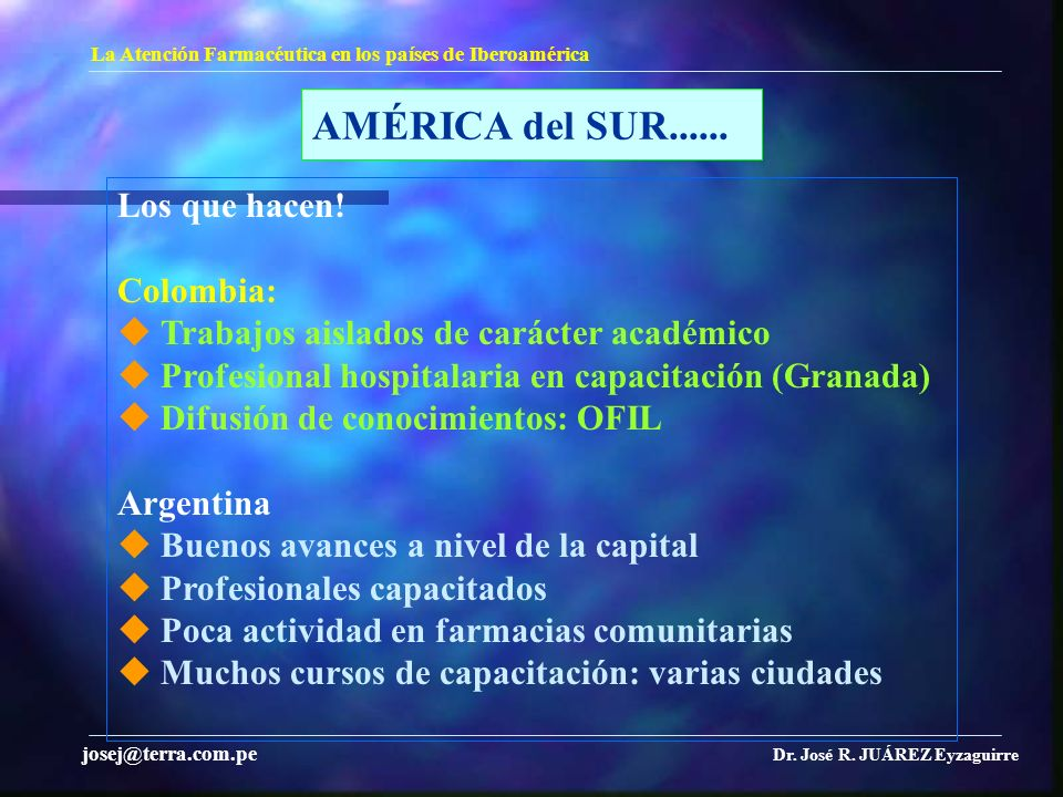 AMÉRICA del SUR...... Los que hacen! Colombia: