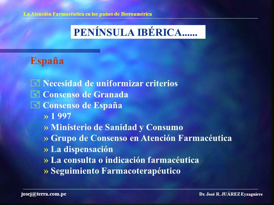 PENÍNSULA IBÉRICA...... España  Necesidad de uniformizar criterios