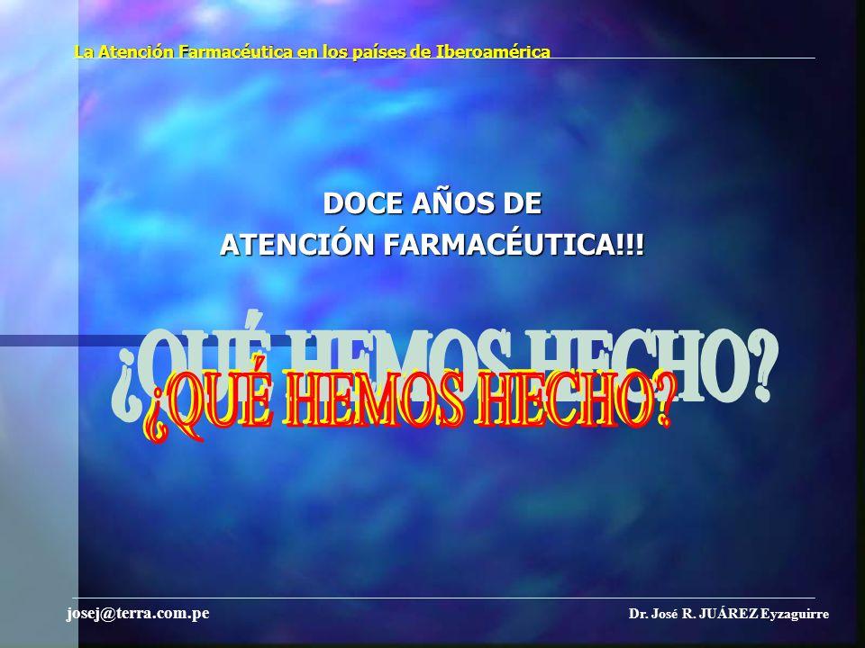 La Atención Farmacéutica en los países de Iberoamérica