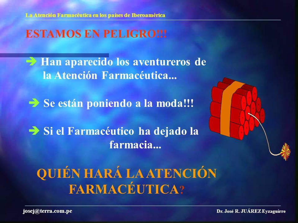 farmacia... QUIÉN HARÁ LA ATENCIÓN FARMACÉUTICA