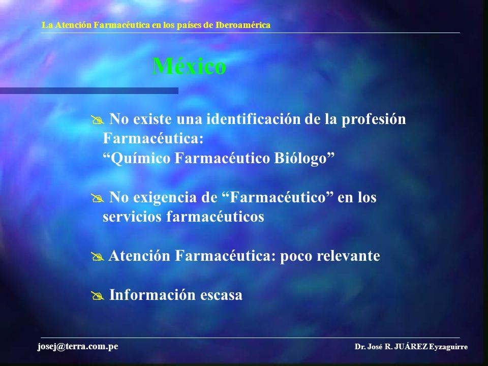 México  No existe una identificación de la profesión Farmacéutica: