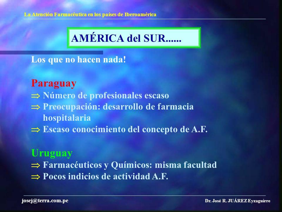 AMÉRICA del SUR...... Paraguay Uruguay Los que no hacen nada!