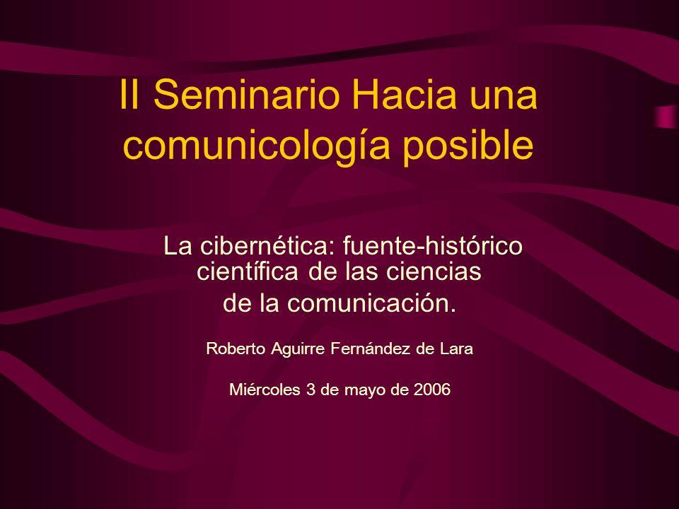 II Seminario Hacia una comunicología posible