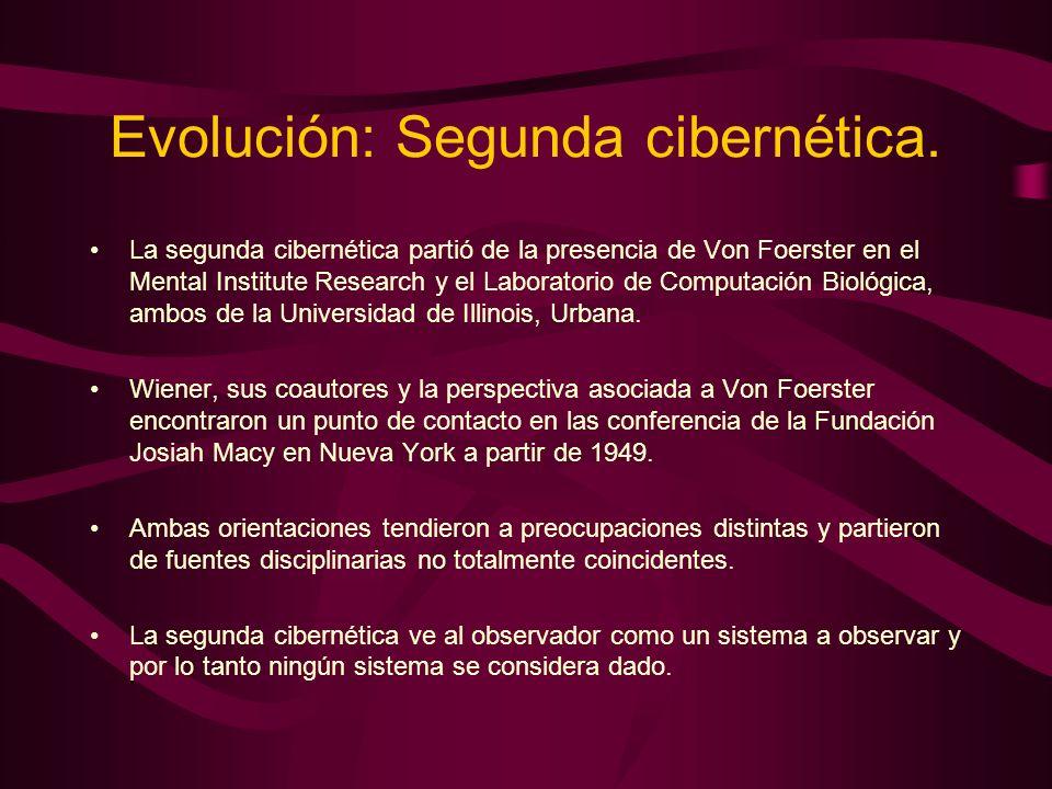 Evolución: Segunda cibernética.