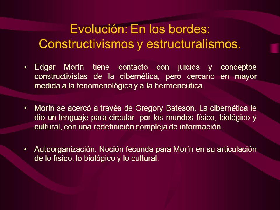 Evolución: En los bordes: Constructivismos y estructuralismos.