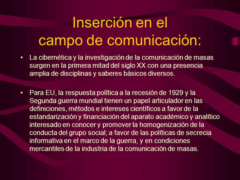 Inserción en el campo de comunicación: