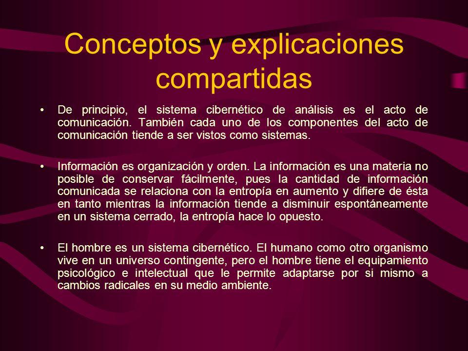 Conceptos y explicaciones compartidas