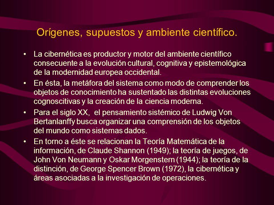 Orígenes, supuestos y ambiente científico.