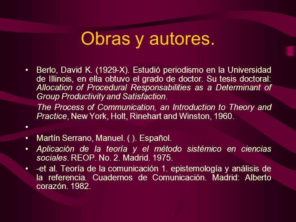 Obras y autores.
