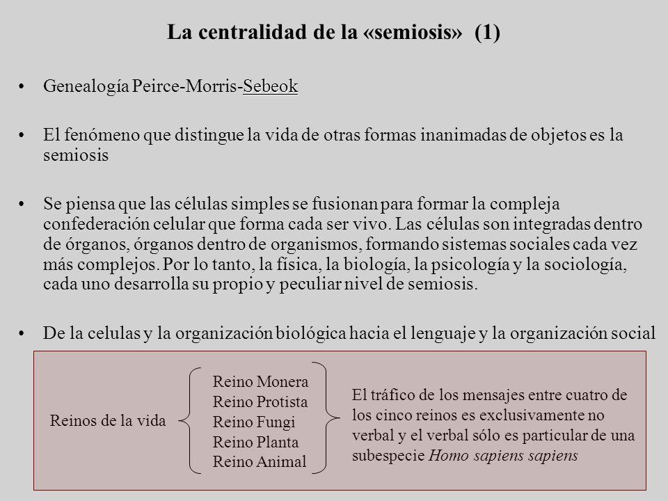 La centralidad de la «semiosis» (1)