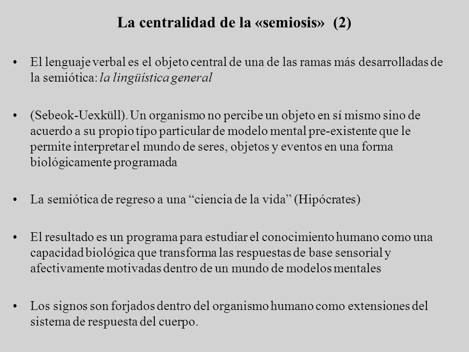 La centralidad de la «semiosis» (2)