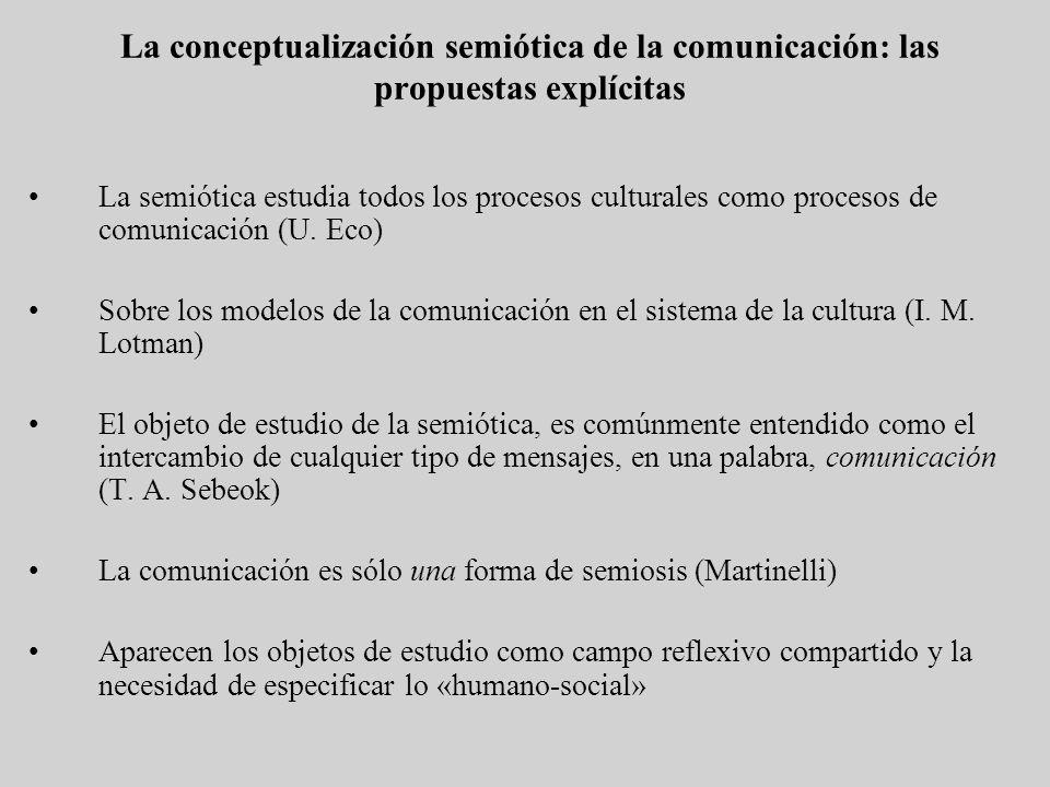 La conceptualización semiótica de la comunicación: las propuestas explícitas