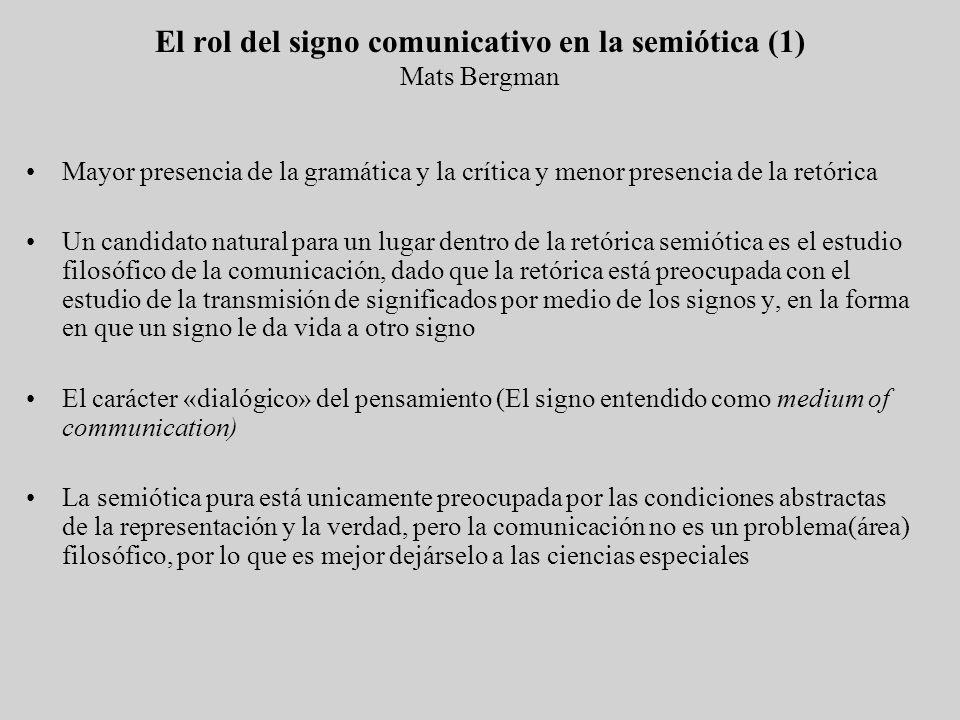 El rol del signo comunicativo en la semiótica (1) Mats Bergman