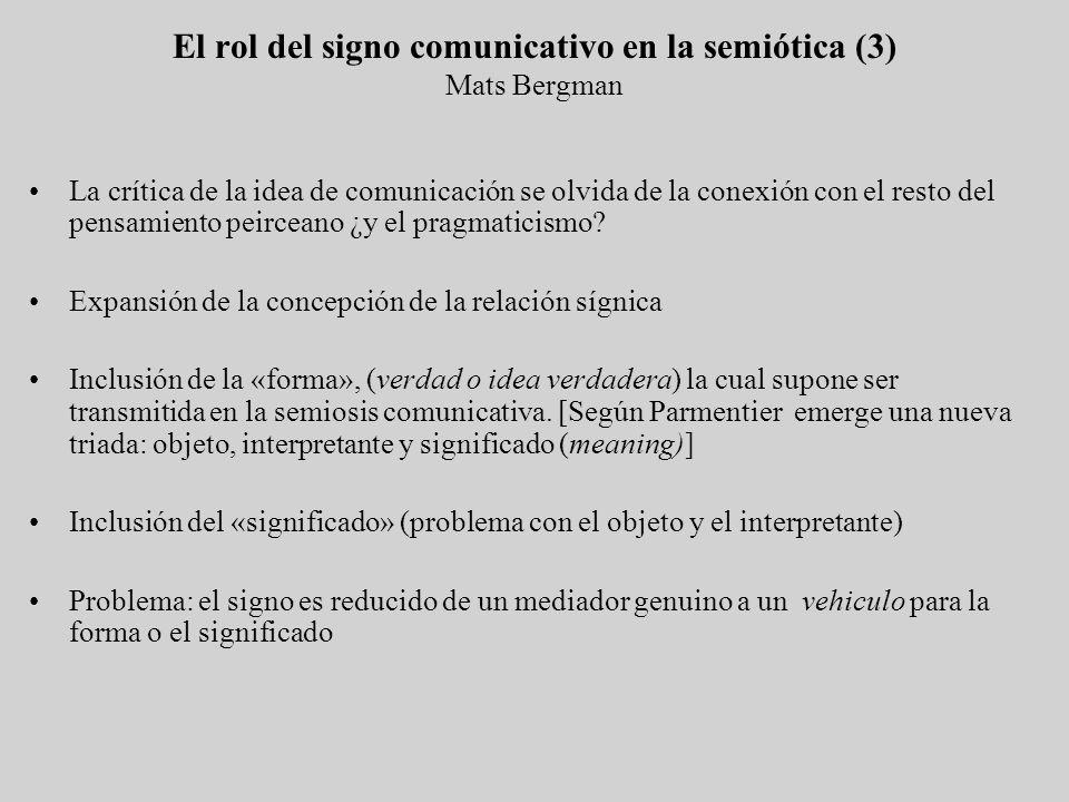 El rol del signo comunicativo en la semiótica (3) Mats Bergman