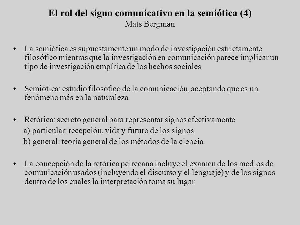 El rol del signo comunicativo en la semiótica (4) Mats Bergman
