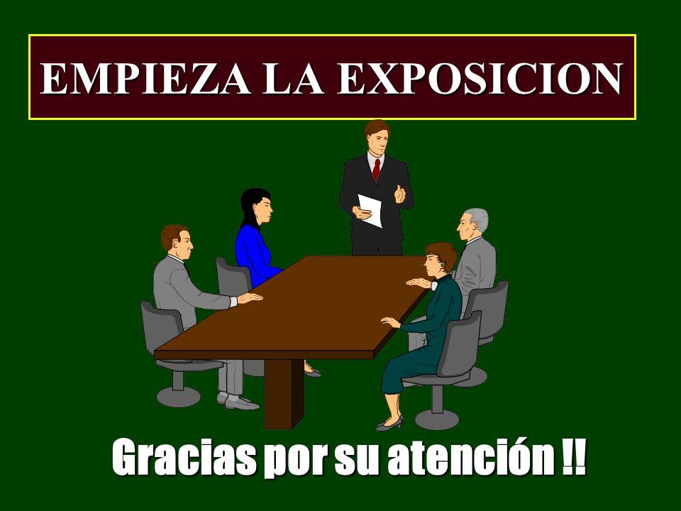 Gracias por su atención !!