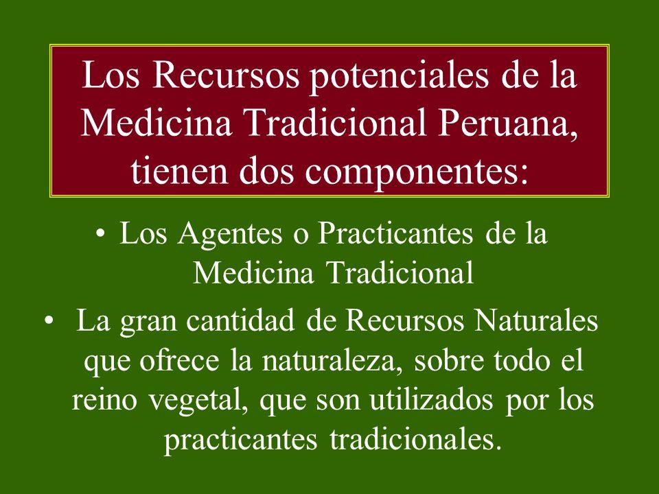 Los Agentes o Practicantes de la Medicina Tradicional