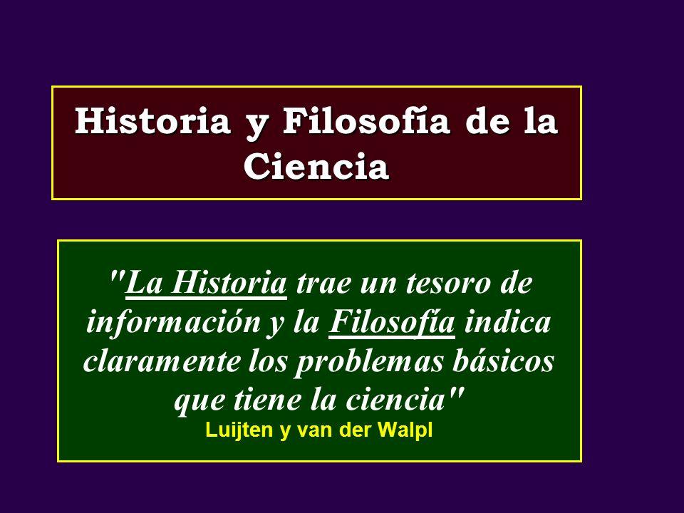Historia y Filosofía de la Ciencia