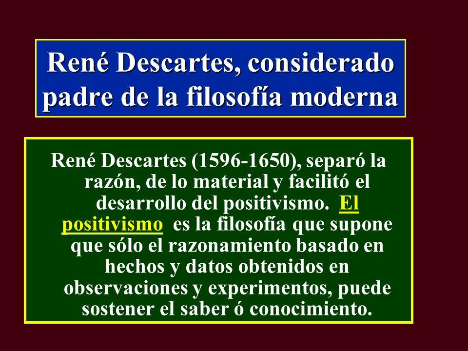 René Descartes, considerado padre de la filosofía moderna