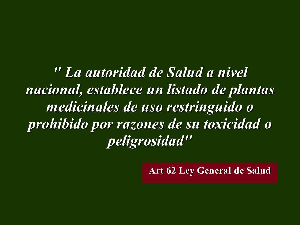 Art 62 Ley General de Salud