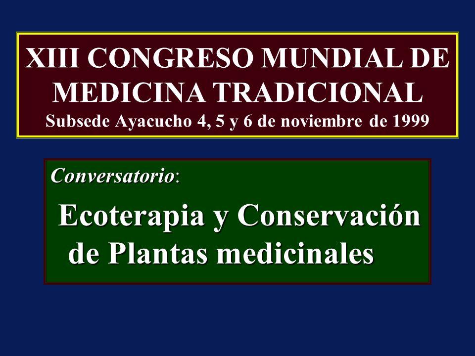 Conversatorio: Ecoterapia y Conservación de Plantas medicinales