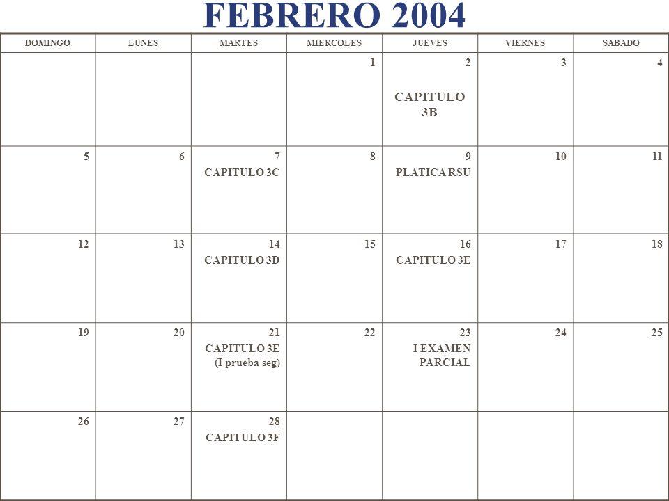 FEBRERO 2004 CAPITULO 3B 1 2 3 4 5 6 7 CAPITULO 3C 8 9 PLATICA RSU 10