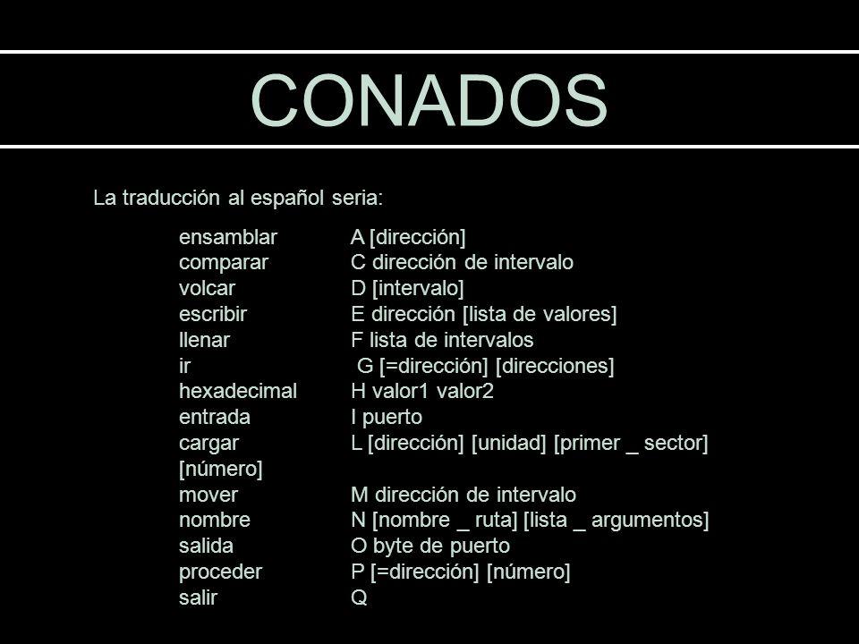 CONADOS La traducción al español seria: