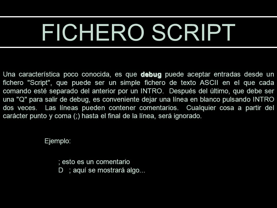 FICHERO SCRIPT