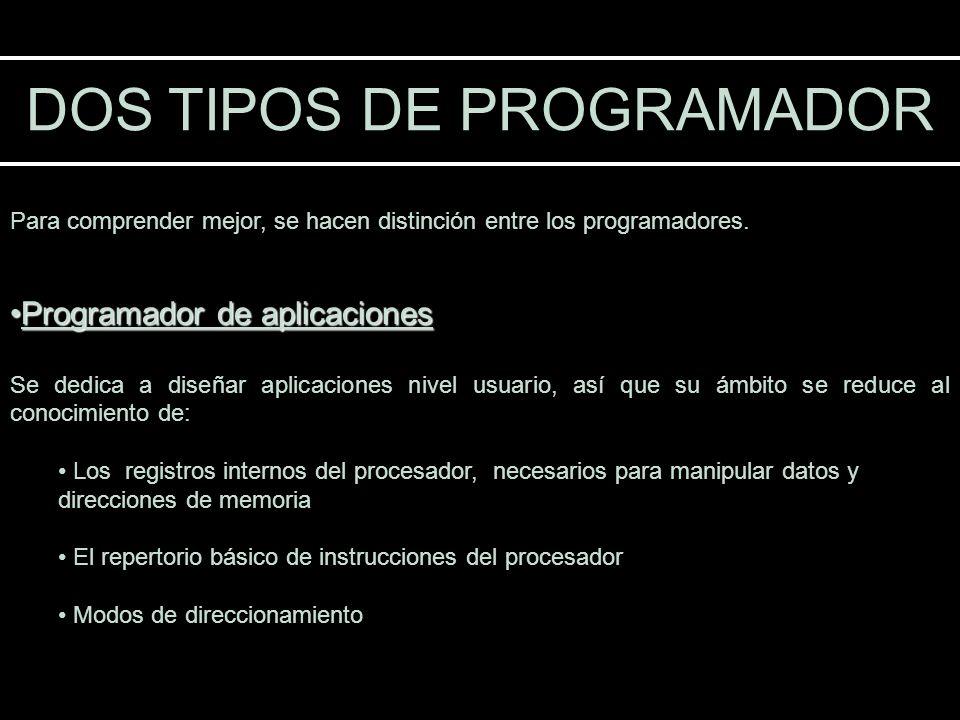 DOS TIPOS DE PROGRAMADOR