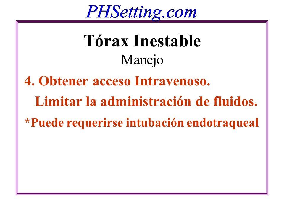 Tórax Inestable Manejo