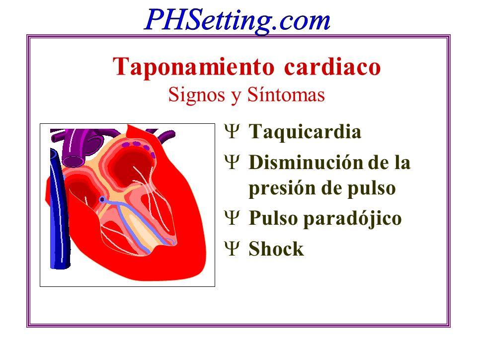 Taponamiento cardiaco Signos y Síntomas