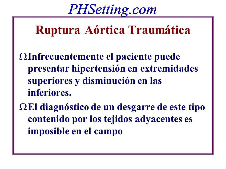 Ruptura Aórtica Traumática