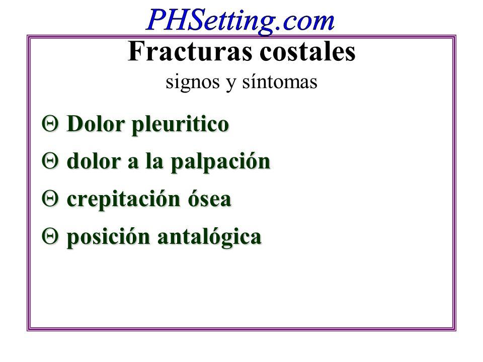 Fracturas costales signos y síntomas
