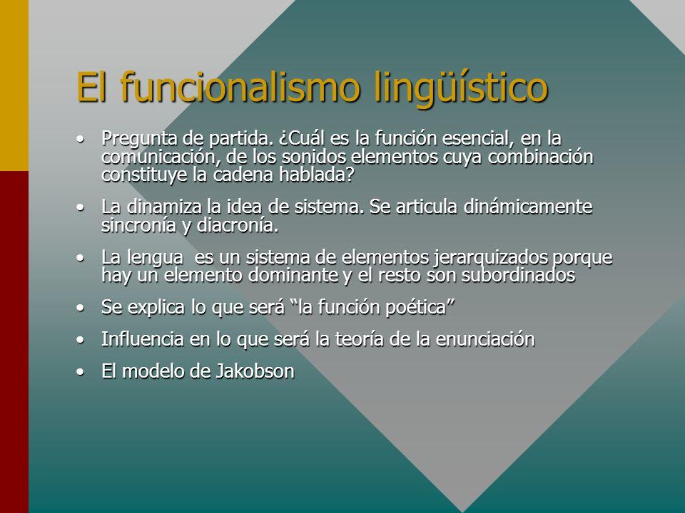 El funcionalismo lingüístico