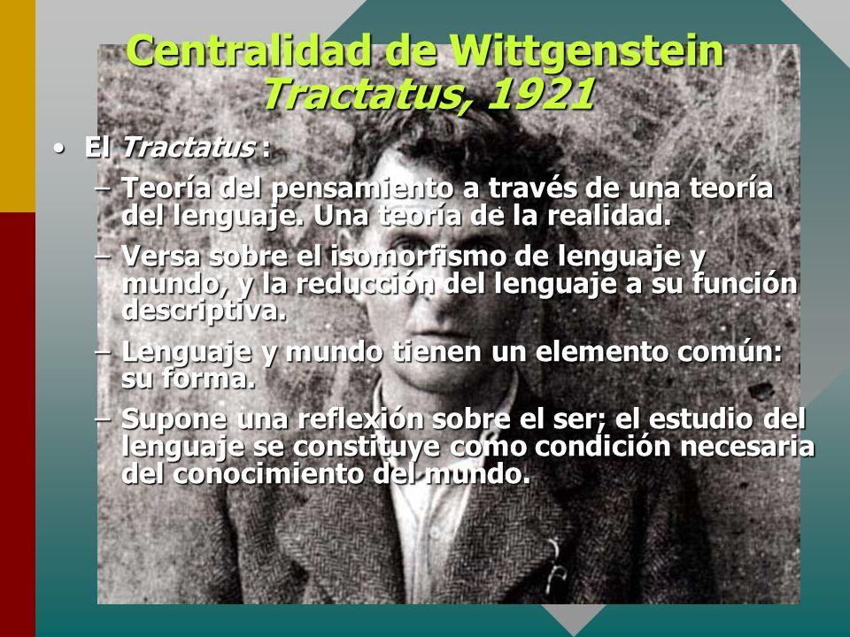 Centralidad de Wittgenstein Tractatus, 1921