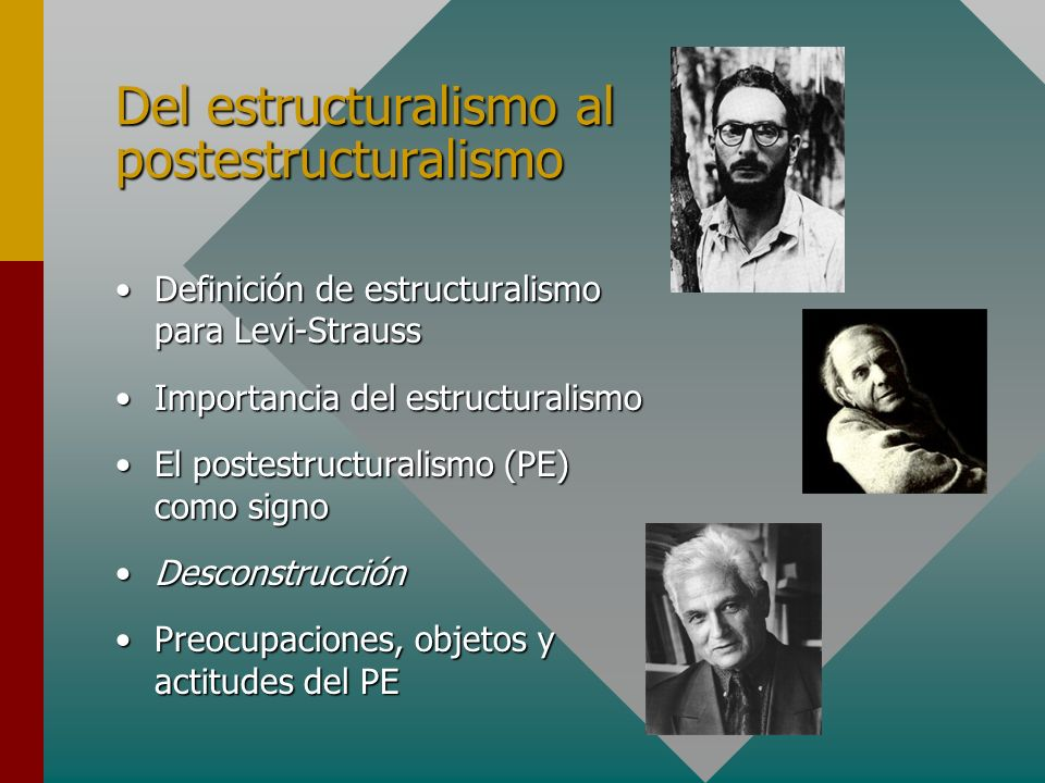 Del estructuralismo al postestructuralismo