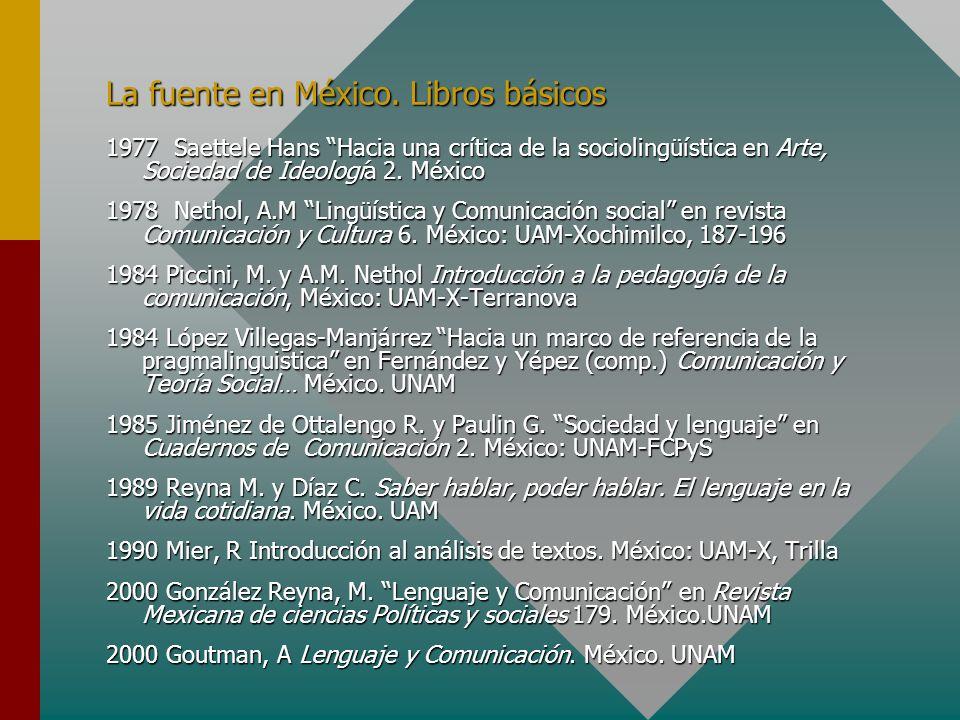La fuente en México. Libros básicos