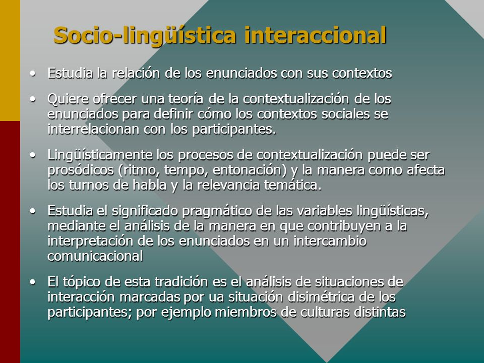 Socio-lingüística interaccional