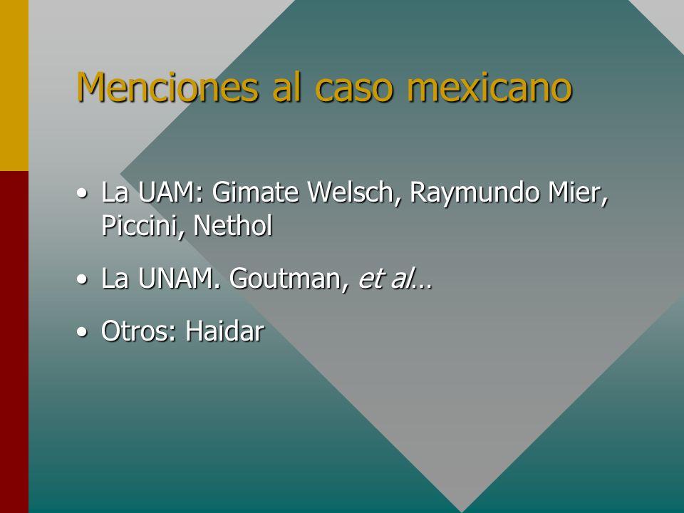 Menciones al caso mexicano