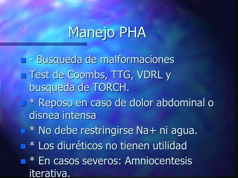 Manejo PHA - Busqueda de malformaciones