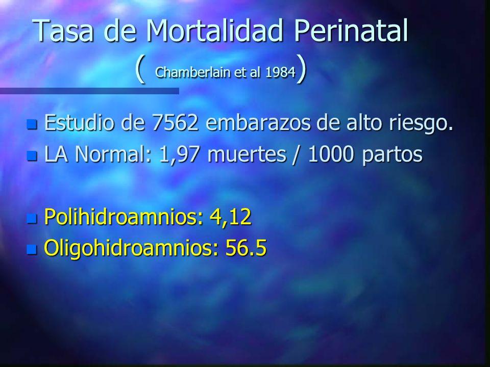 Tasa de Mortalidad Perinatal ( Chamberlain et al 1984)