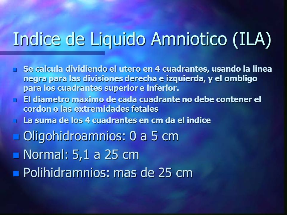 Indice de Liquido Amniotico (ILA)
