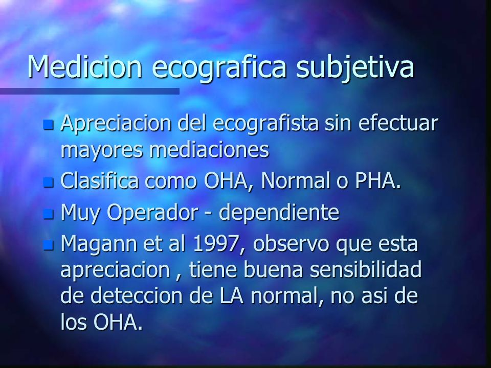Medicion ecografica subjetiva